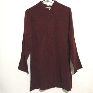 2/$20 Coldwater Creek Burgundy Tunic Shirt